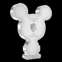 Mickey Mouse Chibi 1oz Silver Coin PCGS PR70DCAM POP 1 Limited In Hand