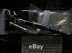 NEW UNUSED Xezo Natural New Zealand Paua SeaShell M 18K Gold Plated Fountain Pen