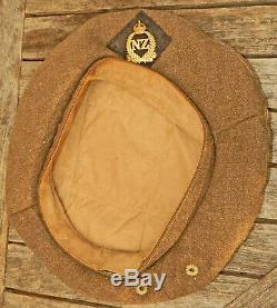 NEW ZEALAND Army General Service Cap WW2 2nd NZEF Worn Middle East Italy Japan