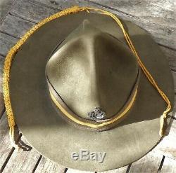 NEW ZEALAND Army PAY CORPS Officer CAMPAIGN HAT Lemon Squeezer WW2 Kiwi ANZAC