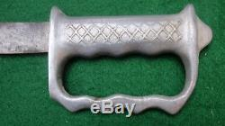 NEW ZEALAND KNUCKLE-DUSTER FIGHTING KNIFE-USN Corpsman / USMC Pacific Guam WWII