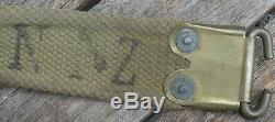 NEW ZEALAND Patt 1908 Webbing LEE ENFIELD Rifle SLING Dated 1916 By Wrights Ltd
