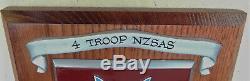 NEW ZEALAND Special Air Service 4 Troop VIETNAM WAR 1970-1971 Unit Member PLAQUE