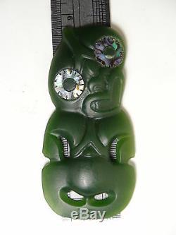 NZ Nephrite Maori Greenstone Pounamu GEM MARSDEN DesHETHERINGTON Medium HEI TIKI