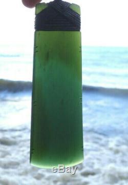 Nathan Jerry Nz Translucent Tangiwai Pounamu Greenstone 4 Maori Hei Toki