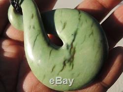 Nephrite Maori Greenstone Pounamu Des Light MARSDEN Jade INANGA BIG Single TWIST