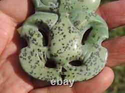 Nephrite Maori JADE Greenstone Pounamu DESs New Zealand Medium KOKOPU HEI TIKI