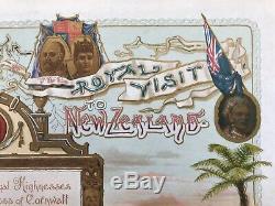 New Zealand 1901 Printed Royal Invitation to the Maori Demonstration at Rotorua