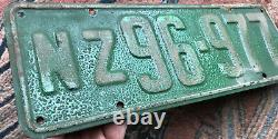 New Zealand 1925 1st National Series license plate