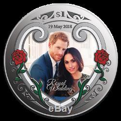 New Zealand- 2018- Silver $1 Proof Coin- 1 OZ Royal Wedding Prince Harry& Meghan