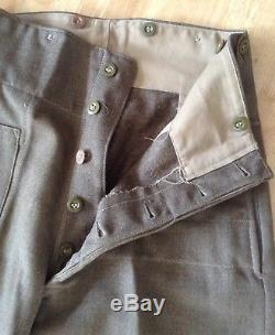 New Zealand Army Battle Dress Trousers, Dated 1940s. Reenactment WW2 Uniform