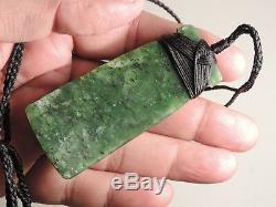 New Zealand Black Spot KAWAKAWA Greenstone Maori Jade Pounamu Nephrite TOKI ADZE