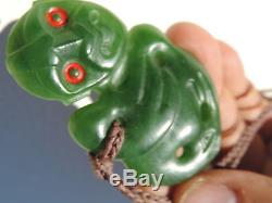 New Zealand Maori Pounamu Nephrite Jade GREENSTONE ANDREW MCGREGOR's Hei Tiki