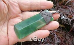 New Zealand Maori Toki Made From Gem Grade Canadian Polar Jade 78mm