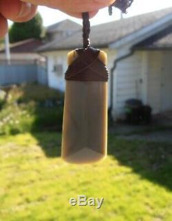 New Zealand Maori Toki Made From Wyoming Sage Jade 68mm