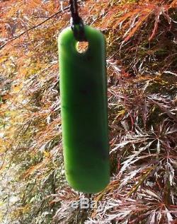 New Zealand Maori Toki Top Grade Gem Quality Canadian Green Jade 95 mm