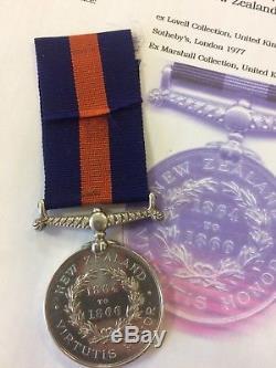 New Zealand Medal 1864 1866 Maori Wars Gate Pa & Te Ranga Royal Artillery