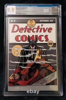 New Zealand Mint Detective Comics 31 DC Comics Pure Silver Foil CGC 9.9 Mint 9.8