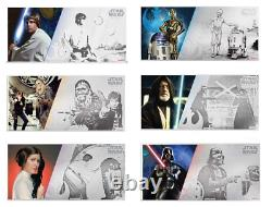 New Zealand Mint Star Wars A New Hope Six 5g Silver Coin Notes Complete Se