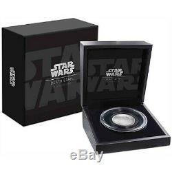 New Zealand Mint Star Wars Death Star Ultra High Relief 2 Oz Silver Coin