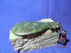 New Zealand NZ Maori Mere War Club High Grade Canadian Jade Pendant 4.5 115mm