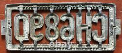 New Zealand Pre-1925 license plate Christchurch