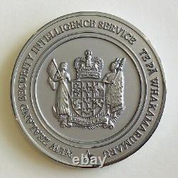 New Zealand Security Intelligence Service Challenge Coin NZSIS GCSB CIA