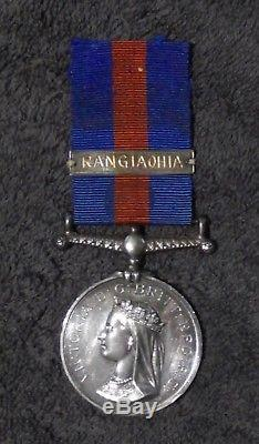 New Zealand War Medal, Undated Type, With Unofficial Silver'rangiaohia' Bar