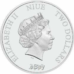 Niue- 2018 & 2019 Disney Villains 1oz Silver Proof set of 4 coins