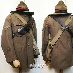 Nzfa Nzef Artillery Uniform Tunic & Lemon Squeezer Ww1