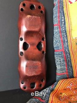 Old New Zealand Maori Hand Carved Wooden Bowl beautiful collection piece