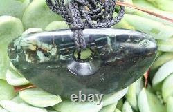 One Of A Kind Nz West Coast Pounamu Serpentine Greenstone Maori Kopae Pendant