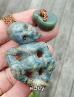 One Of Kind New Zealand Fuschite Kyolite Aotea Stone Collectible Maori Hei Tiki