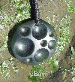 One Of Kind New Zealand Greenstone Gem Arahura Jade Maori Pounamu Celestial Disk