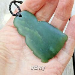 One Of Kind Niki Nepia Gem Nz Pounamu Greenstone Nephrite Jade Maori Hei Tiki