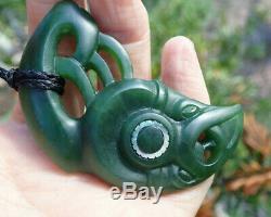 One Of Kind Niki Nepia Nz Pounamu Greenstone Nephrite Jade Maori Hei Manaia