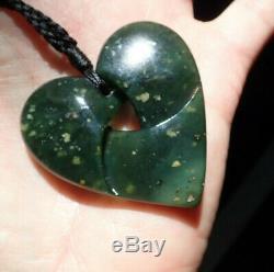 One Of Kind Nz Maori Greenstone Pounamu Tangiwai Greenstone Moebius Heart