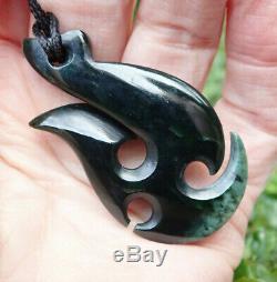 One Of Kind Nz Pounamu Greenstone Arahura Flower Jade Maori Hei Matau Hook