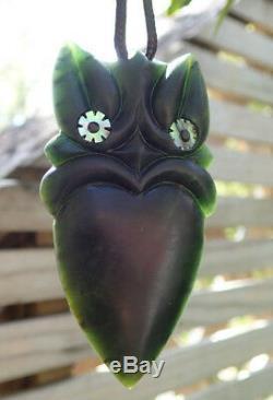 One Of Kind Nz Pounamu Greenstone Nephrite Arahura Jade Maori Taiaha Hei Tiki