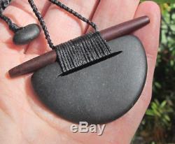 One Of Kind Rhys Hall Greywacke Red Jasper New Zealand Maori Breastplate