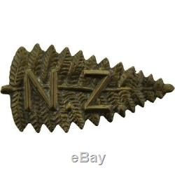 Original Boer War / Victorian New Zealand Army Slouch Hat Cap Badge CC37