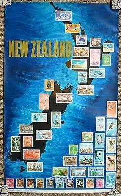 Original Travel Poster New Zealand 1966 Rare