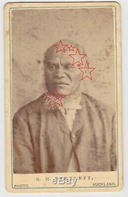 Original photo Piripi Patiki c1875 Maori chief by Barlett Auckland New Zealand