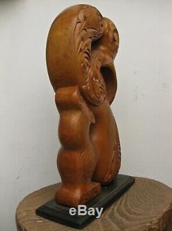 Powerful Manaia Toi Whakairo Sculpture Maori New Zealand Polynesia