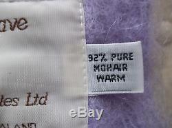 Pure Rare New Zealand Mohair Throw Blanket NEW Masterweave