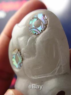 Pure Translucent GUATEMALAN JADEITE DesHETHERINGTONs GEM WHITE Medium Hei Tiki
