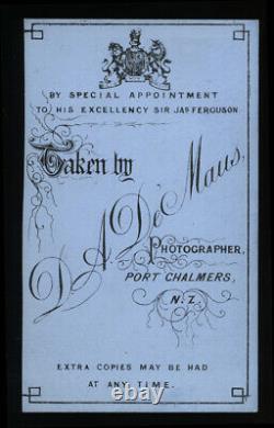 RARE Antique 1800s Photo Young Maori New Zealand Photographer De Maus / Tattoos