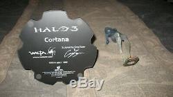 RARE WETA-Halo 3 Cortana Hologram & Master Chief Statue X-BOX 360 (680/1000)