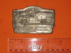 Rare General Motors New Zealand Ltd Badge Like Gmh Holden Truck Car Free Post