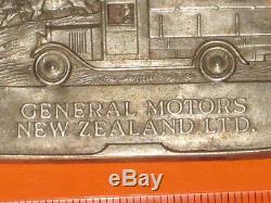 Rare GENERAL MOTORS NEW ZEALAND LTD badge like GMH/Holden truck/car FREE POST